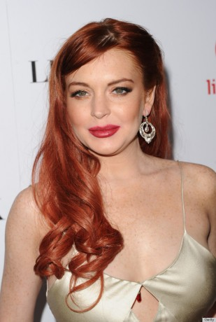 Actress Lindsay Lohan attends the premiere of Lifetime's 'Liz & Dick' at Beverly Hills Hotel