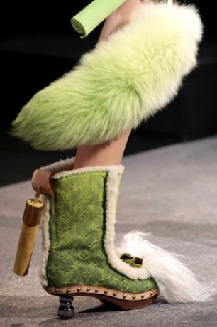 Lady Gaga Green Shoes
