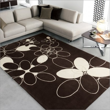 Brown and White Combination of Rugs