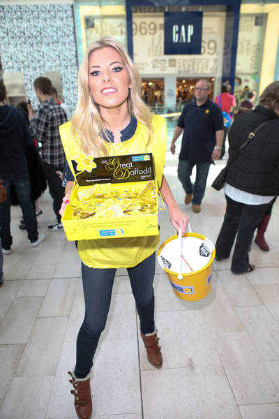 The Saturdays Collecting for the Marie Curie Cancer Care Charity at the Westfield Shopping Centre in London