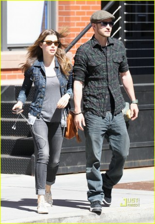 Jessica Biel and Justin Timberlake in New York.