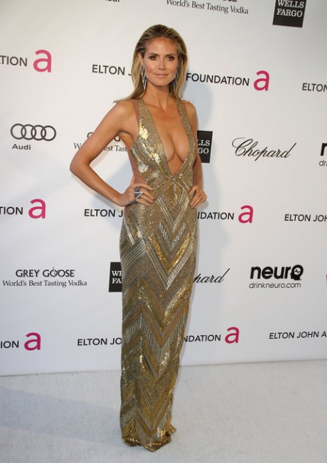 Heidi Klum Attend Oscar Party 2013