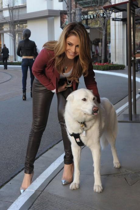 Maria Menounos with Dog
