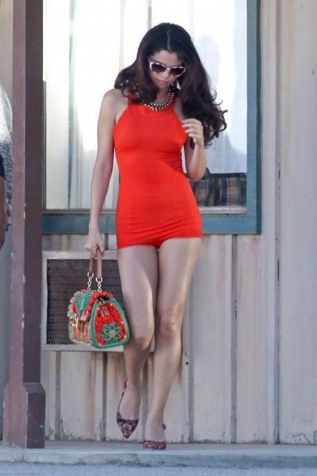 Selena Gomez Hot Red Dress