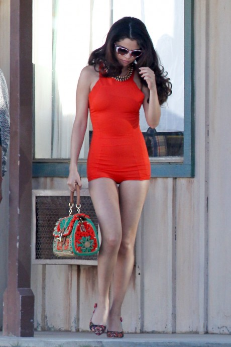 SELENA GOMEZ Beautiful Hot Dress in Los Angeles