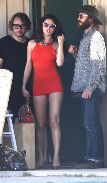 Selena Gomez Filming a Video