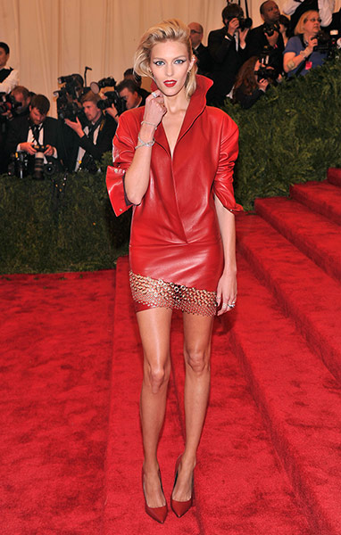 Anja-Rubik in Met Ball New York 2013