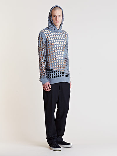 Raf Simons Starts Menswear Archive Sale Lattice hoody
