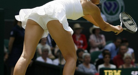 Maria Sharapova Shows Back Picture