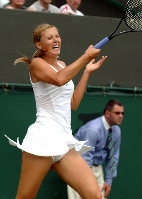 Maria Sharapova Hot White Picture