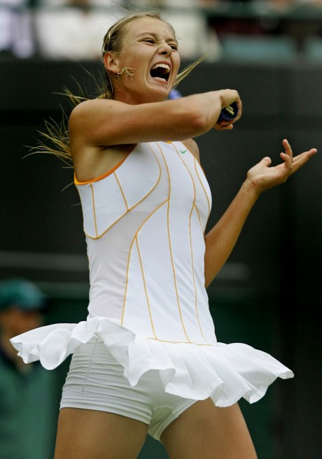 Maria Sharapova in White Dress