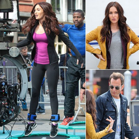 Megan Fox on Ninja Turtles Set
