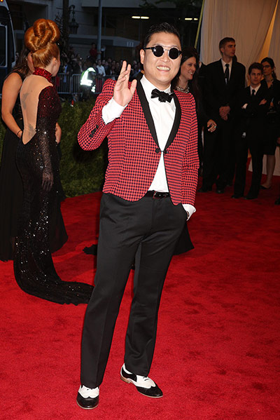 Met ball 2013 Men Fashion on Night singer Psy