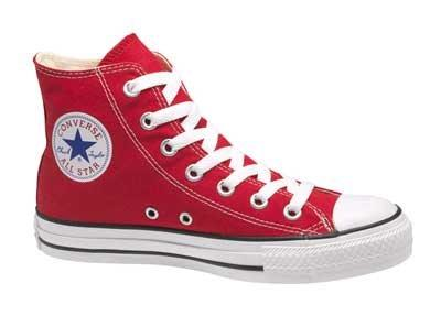 Red Color Converse Sneakers