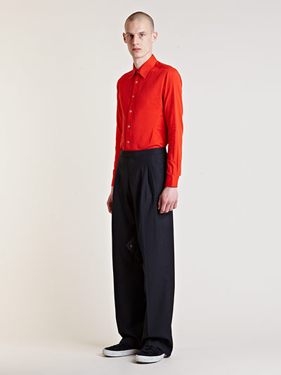 Raf Simons Starts Menswear Archive Sale Red shirt