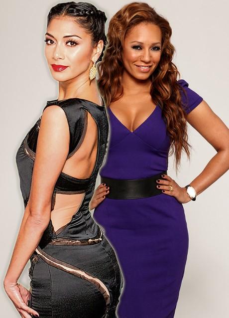 Nicole Scherzinger & Mel ready in X-Factor Panel