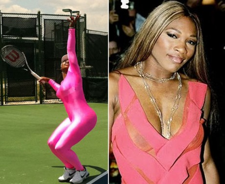 Serena Williams Hot Pink Dress Pic