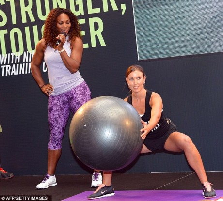Serena Williams at Cherity Show