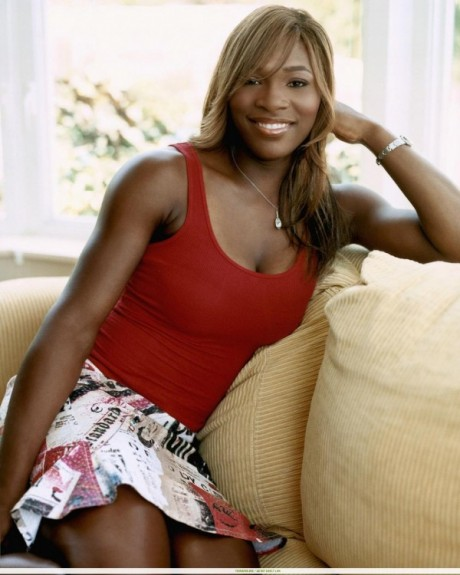 Serena Williams on Sofa
