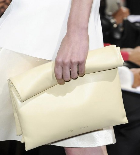 Unique Folded Clutch White
