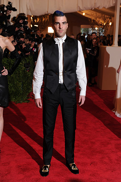 Met ball 2013 Men Fashion on Night Zachary Quinto