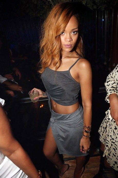 Rihanna looking rock in party