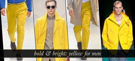 Bright Yellow For Men wear Without Compromising Style