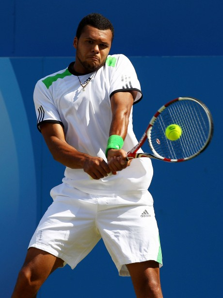 Jo Wilfried Tsonga Playing Shot Photo