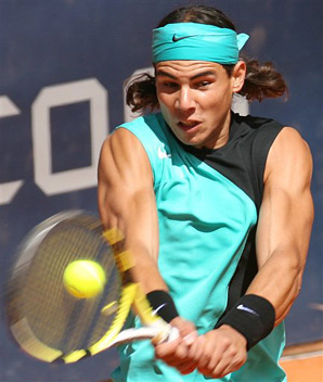 Rafael Nadal Playing Shot Image