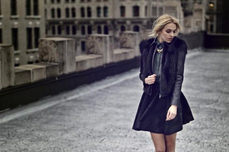 Stephanie Waldrip Fall Collection 2013 Black Dress Picture