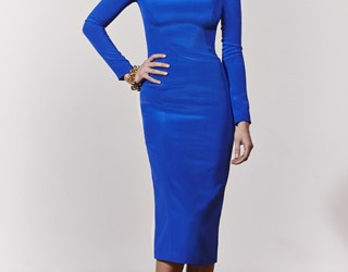 Stephanie Waldrip Fall Collection 2013 Awesome Blue dress Image