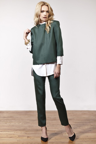 Stephanie Waldrip Fall Collection 2013 Green Dress Photograph