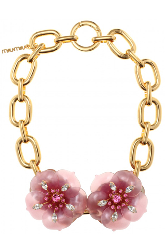 Miu Miu Pink Pieces of Accessories Necklaces Image