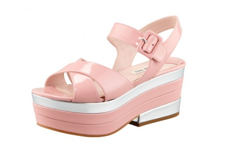 Miu Miu Pink Dress Sandal Snap