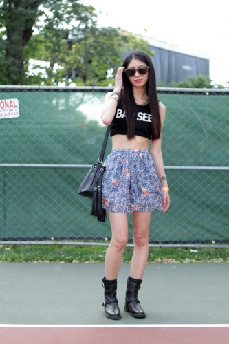 Women Street Styles Dresses Collection Cool Skirt & Top Dress