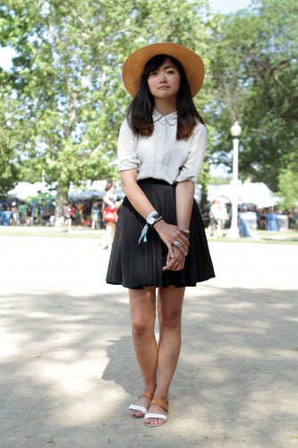 Women Street Styles Dresses Collection Black Skirt & White Top Photo