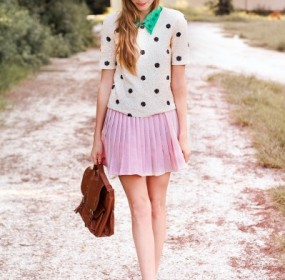 Penny Loafer Pink Hot Skirt