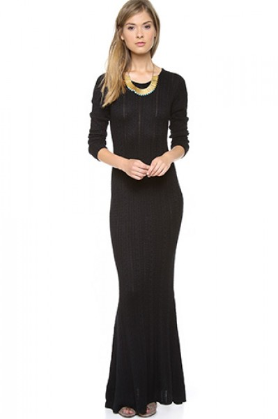 Chic Sweater Dresses Collection 2013 Black Hot Dress Image