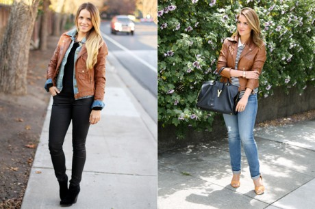 Julia Engel in Jeans & Jacket