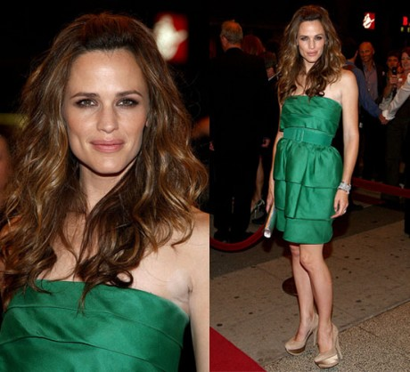 Jennifer Garner Hot Green Dress