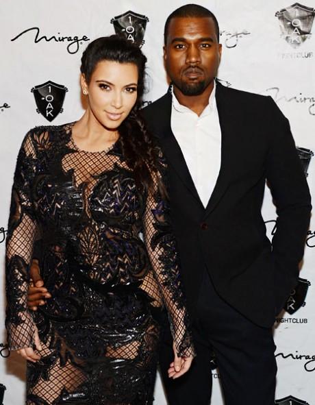 Kim Kardashian and Kayne West Wallpaperq