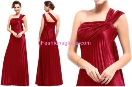Christmas Dresses for Women One Shoulder Long Gowns