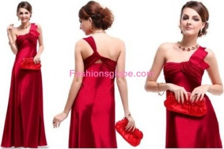 Christmas Party Dresses for Women Padded Satin