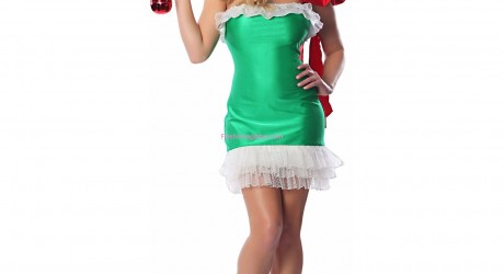 Green Christmas Gift Adult Costume
