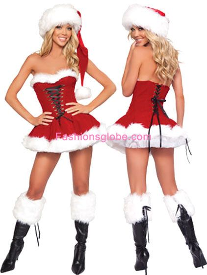 Lace Up Christmas Costume