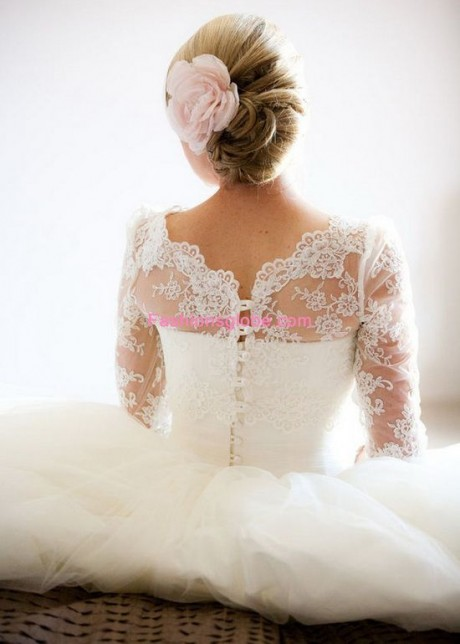 Romantic Christmas Lace Dentelle Wedding Gown