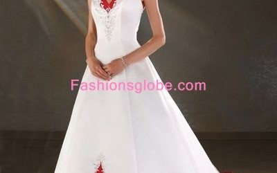 White-and-Red-Christmas-Wedding-Gown