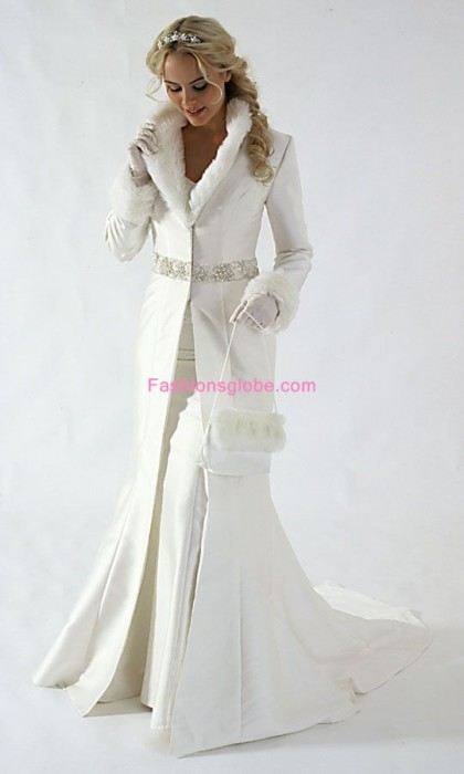 Winter Weeding White Dresses