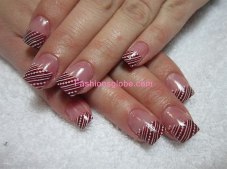 Nail Art Glitter Designs For Christmas