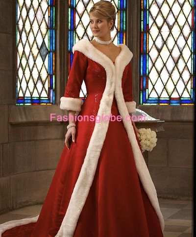 Red Christmas Wedding Gowns
